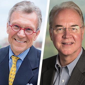Secretary Tom Price & Former Senator Tom Daschle Headshot