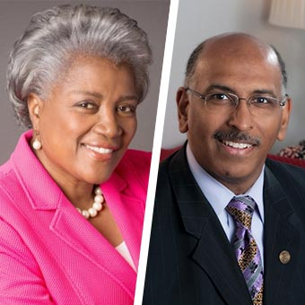 Donna Brazile & Michael Steele Headshot